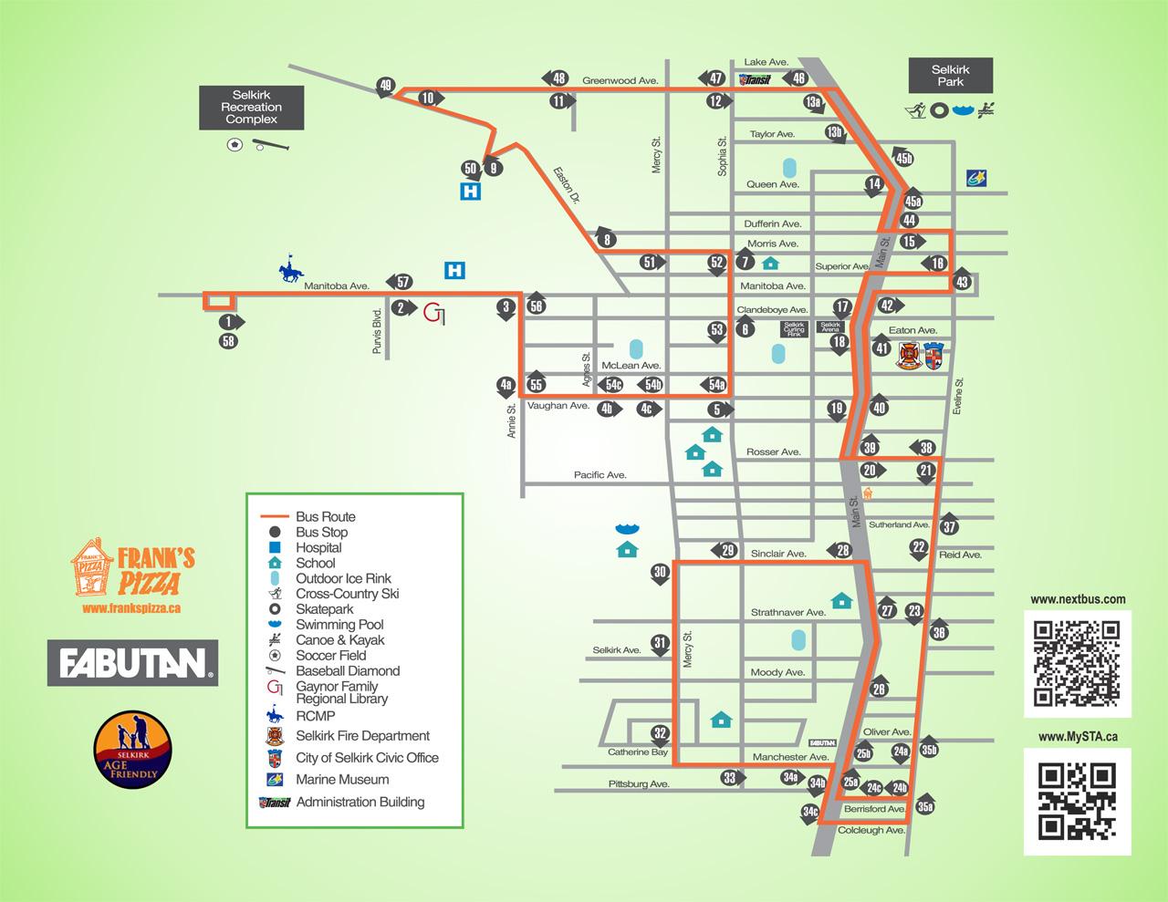 mysta   selkirk transit schedule & map - mysta.ca